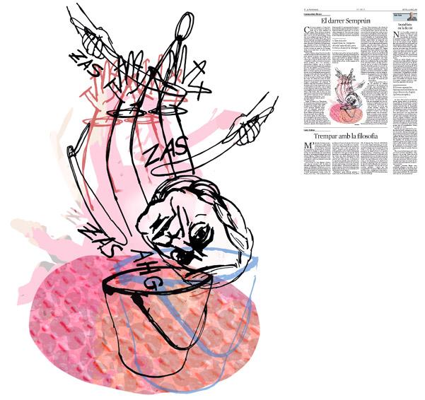 Jordi Barba, il·lustració publicada a La Vanguardia, secció d'Opinió 21-04-2016, per l'article de Francesc-Marc Álvaro