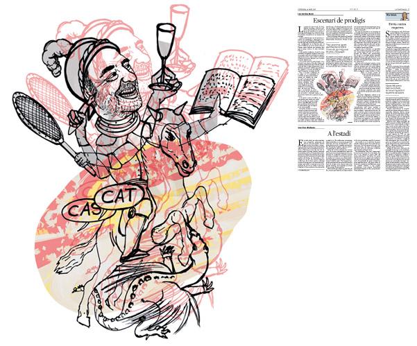 Jordi Barba, il·lustració publicada a La Vanguardia, secció d'Opinió 29-04-2016, per l'article de Luis Sánchez-Merlo