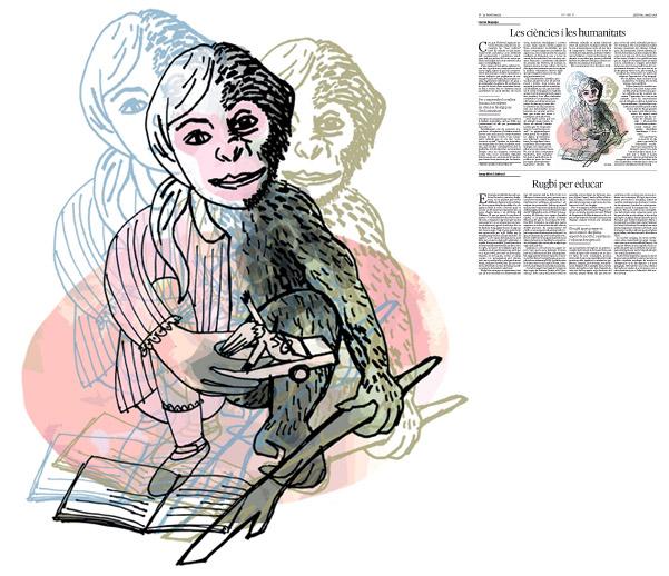 Jordi Barba, il·lustració publicada a La Vanguardia, secció d'Opinió 2-05-2016, per l'article de Ferran Requejo