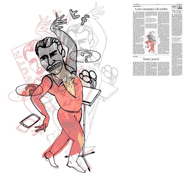 Jordi Barba, il·lustració publicada a La Vanguardia, secció d'Opinió 5-05-2016, per l'article de Francesc-Marc Álvaro