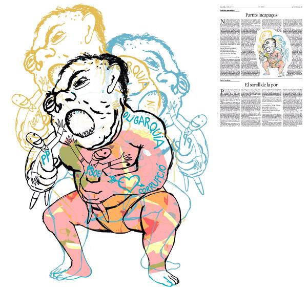 Jordi Barba, il·lustració publicada a La Vanguardia, secció d'Opinió 7-05-2016, per l'article de Juan-José López Burniol