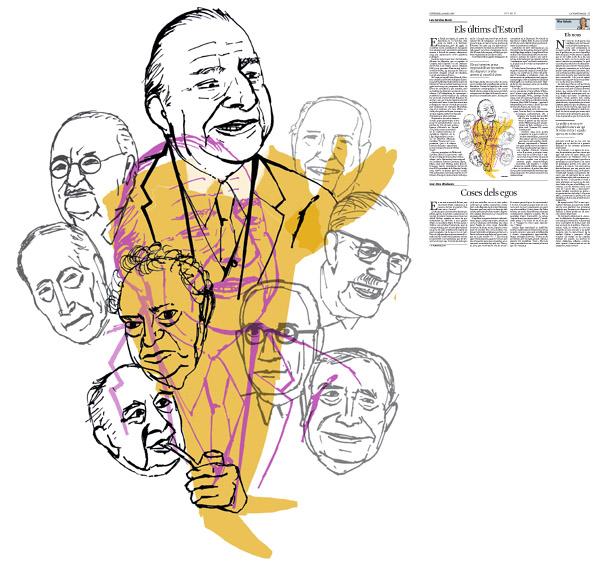 Jordi Barba, il·lustració publicada a La Vanguardia, secció d'Opinió 13-05-2016, per l'article de Luis Sánchez-Merlo