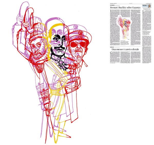 Jordi Barba, il·lustració publicada a La Vanguardia, secció d'Opinió 20-05-2016, per l'article de Luis Racionero