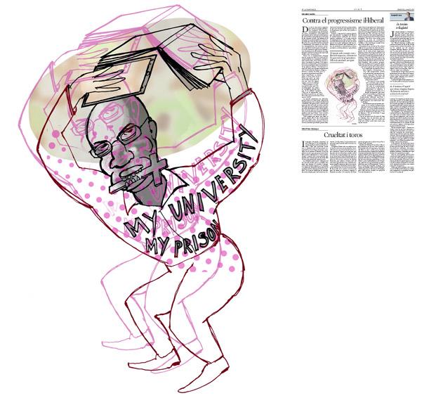 Jordi Barba, il·lustració publicada a La Vanguardia, secció d'Opinió 25-05-2016, per l'article de Salvador Cardús