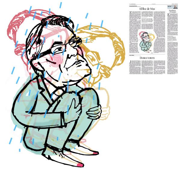Jordi Barba, ilustración publicada aen La Vanguardia, sección de Opinión 2-06-2016, para el artículo de Francesc-Marc Álvaro