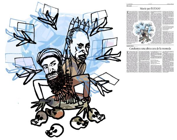 Jordi Barba, ilustración publicada en La Vanguardia, sección de Opinión 27-06-2016, para el artículo  de Walter Laqueur