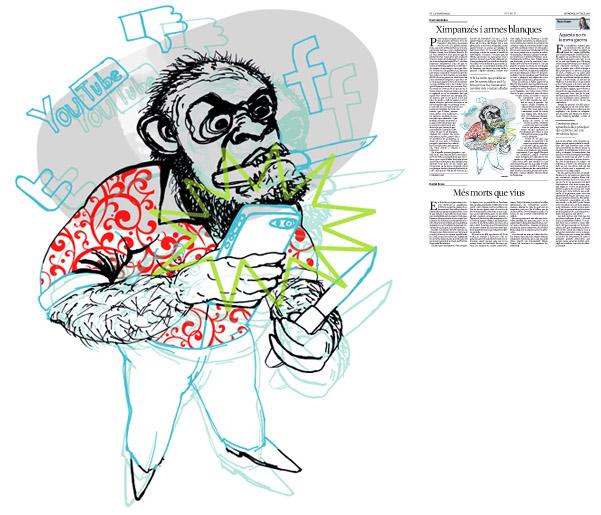 Jordi Barba, il·lustració publicada a La Vanguardia, secció d'Opinió 17-07-2016, per l'article de Dani Fernández