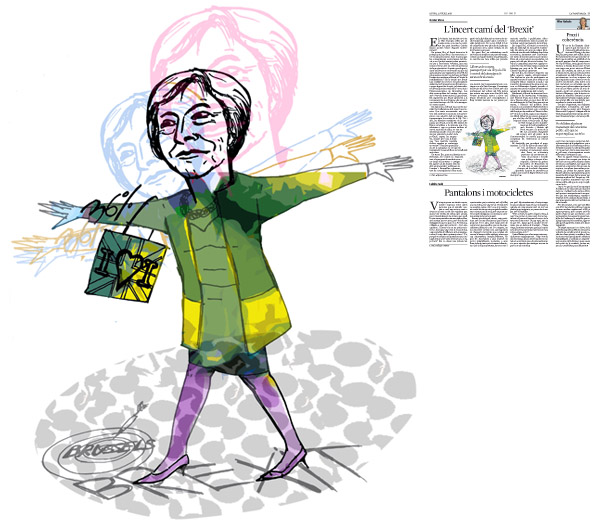 Jordi Barba, il·lustració publicada a La Vanguardia, secció d'Opinió 21-07-2016, per l'article de Xavier Vives
