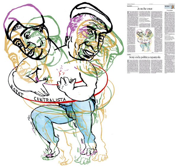 Jordi Barba, il·lustració publicada a La Vanguardia, secció d'Opinió 26-07-2016, per l'article de Kepa Aulestia
