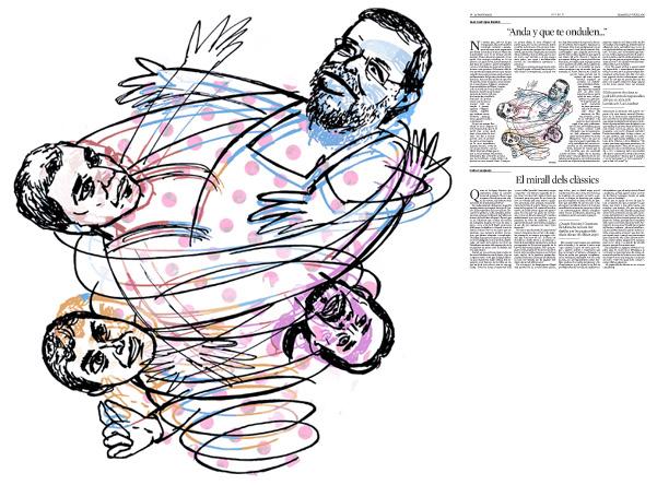 Jordi Barba, il·lustració publicada a La Vanguardia, secció d'Opinió 30-07-2016, per l'article de Juan-José López Burniol