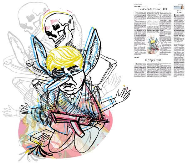 Jordi Barba, il·lustració publicada a La Vanguardia, secció d'Opinió 8-09-2016, per l'article de Fawaz A. Gerges