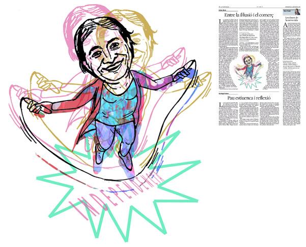 Jordi Barba, il·lustració publicada a La Vanguardia, secció d'Opinió 18-09-2016, per l'article de Llàtzer Moix