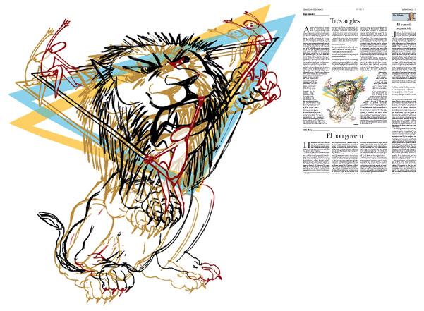 Jordi Barba, il·lustració publicada a La Vanguardia, secció d'Opinió 20-09-2016, per l'article de Kepa Aulestia