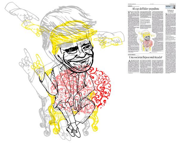 Jordi Barba, il·lustració publicada a La Vanguardia, secció d'Opinió 19-08-2016, per l'article de Ian Buruma