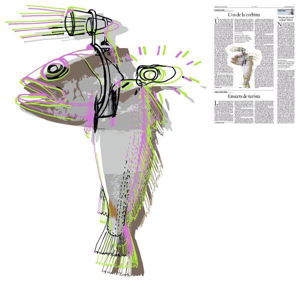 Jordi Barba, il·lustració publicada a La Vanguardia, secció d'Opinió 28-08-2016, per l'article de Daniel Fernández
