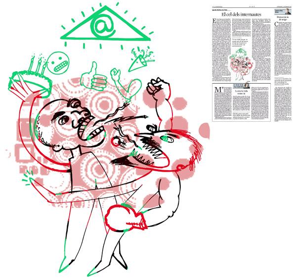 Jordi Barba, il·lustració publicada a La Vanguardia, secció d'Opinió 2-09-2016, per l'article de Ignacio Martínez de Pisón