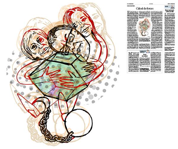 Jordi Barba, il·lustració publicada a La Vanguardia, secció d'Opinió 6-10-2016, per l'article de Francesc-Marc Álvaro