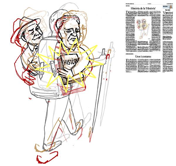 Jordi Barba, il·lustració publicada a La Vanguardia, secció d'Opinió 9-10-2016, per l'article de Jordi Amat