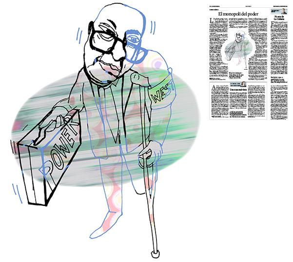 Jordi Barba, il·lustració publicada a La Vanguardia, secció d'Opinió 21-10-2016, per l'article de Pascal Boniface