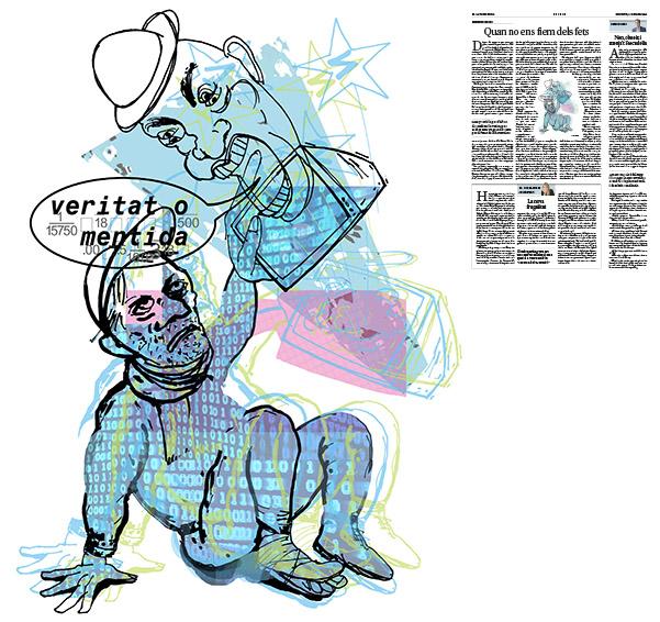 Jordi Barba, il·lustració publicada a La Vanguardia, secció d'Opinió 26-10-2016, per l'article de Salvador Cardús