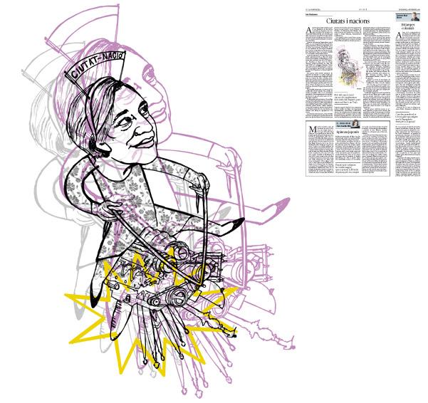 Jordi Barba, il·lustració publicada a La Vanguardia, secció d'Opinió 4-11-2016, per l'article de Luis Racionero