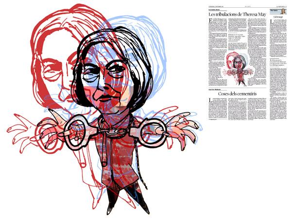 Jordi Barba, il·lustració publicada a La Vanguardia, secció d'Opinió 11-11-2016, per l'article de Luis Sánchez-Merlo