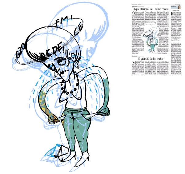 Jordi Barba, il·lustració publicada a La Vanguardia, secció d'Opinió 16-11-2016, per l'article de Antón Costas