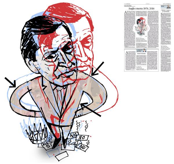 Jordi Barba, il·lustració publicada a La Vanguardia, secció d'Opinió 24-11-2016, per l'article de Francesc-Marc Álvaro