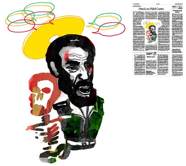 Jordi Barba, il·lustració publicada a La Vanguardia, secció d'Opinió 1-12-2016, per l'article de Francesc-Marc Álvaro