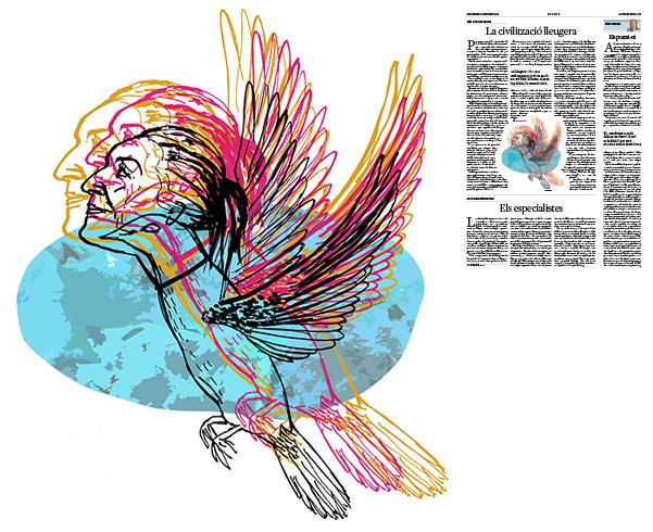 Jordi Barba, il·lustració publicada a La Vanguardia, secció d'Opinió 9-12-2016, per l'article de Luis Sánchez-Merlo