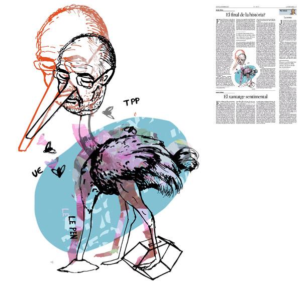 Jordi Barba, il·lustració publicada a La Vanguardia, secció d'Opinió 15-12-2016, per l'article de Xavier Vives