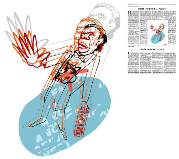 Jordi Barba, il·lustració publicada a La Vanguardia, secció d'Opinió 17-12-2016, per l'article de Juan-José López Burniol