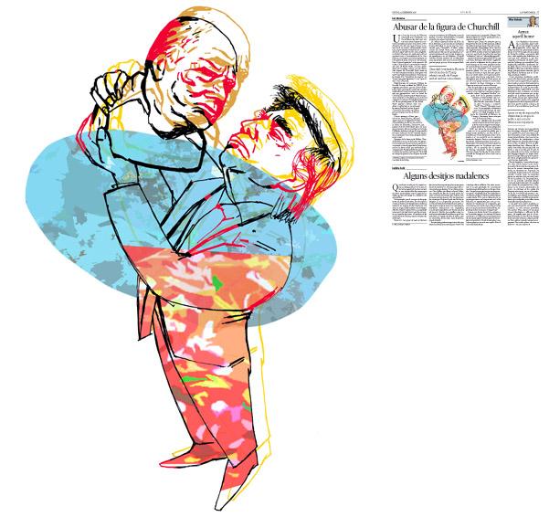 Jordi Barba, il·lustració publicada a La Vanguardia, secció d'Opinió 22-12-2016, per l'article de Ian Buruma