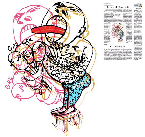 Jordi Barba, il·lustració publicada a La Vanguardia, secció d'Opinió 28-12-2016, per l'article d'Antón Costas