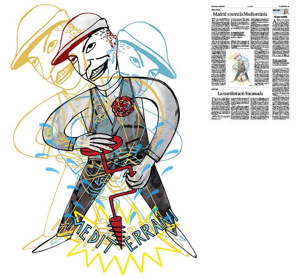 Jordi Barba, il·lustració publicada a La Vanguardia, secció d'Opinió 24-02-2017, per l'article de Luis Racionero