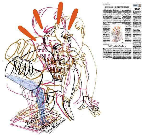 Jordi Barba, il·lustració publicada a La Vanguardia, secció d'Opinió 12-05-2017, per l'article de Josep Antoni Duran Lleida