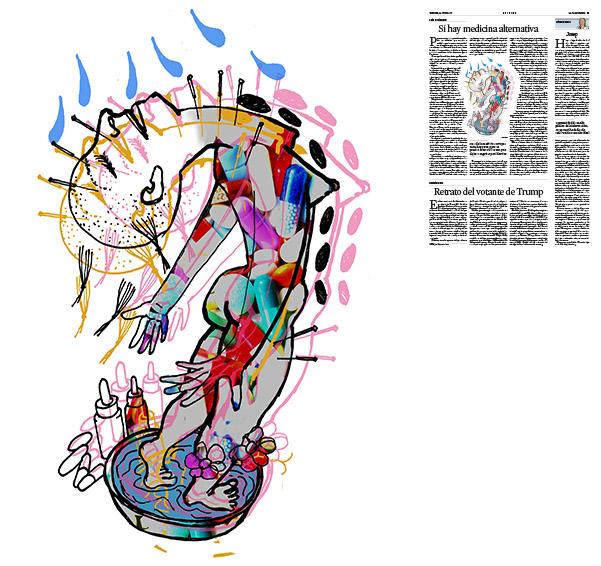 Jordi Barba, il·lustració publicada a La Vanguardia, secció d'Opinió 30-06-2017, per l'article de Luis Racionero