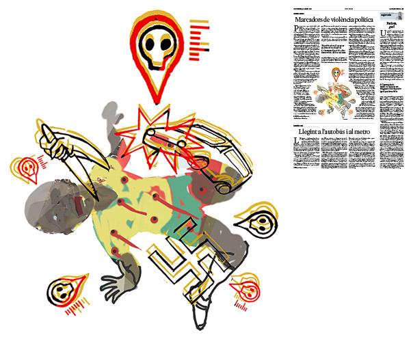 Jordi Barba, il·lustració publicada a La Vanguardia, secció d'Opinió 25-08-2017, per l'article de Antón Costas