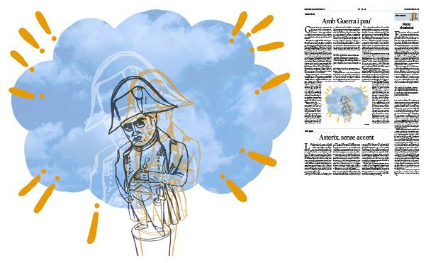 Jordi Barba, il·lustració publicada a La Vanguardia, secció d'Opinió 29-10-2017, per l'article de Carme Riera