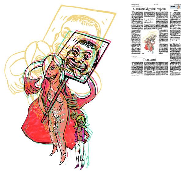 Jordi Barba, il·lustració publicada a La Vanguardia, secció d'Opinió 20-01-2018, per l'article de Josep Miró i Ardèvol