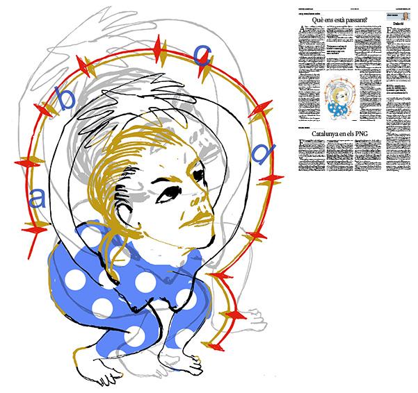 Jordi Barba, il·lustració publicada a La Vanguardia, secció d'Opinió 10-05-2018, per l'article de Josep Antoni Duran Lleida