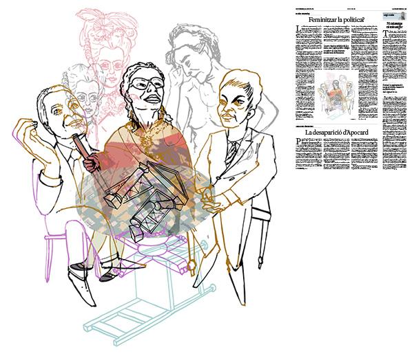 Jordi Barba, il·lustració publicada a La Vanguardia, secció d'Opinió 31-08-2018, per l'article de Daniel Innerarity