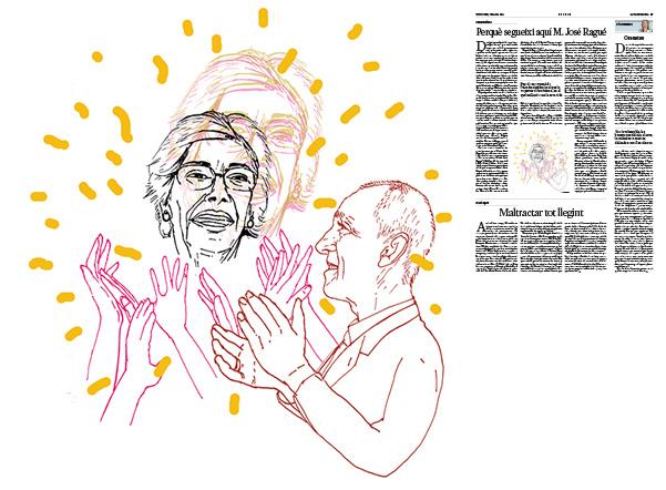 Jordi Barba, il·lustració publicada a La Vanguardia, secció d'Opinió 07-07-2019, per l'article de Carme Riera